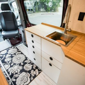 """1/2"""" 9 ply Birch w/ White Laminate  and Bamboo Countertop"""